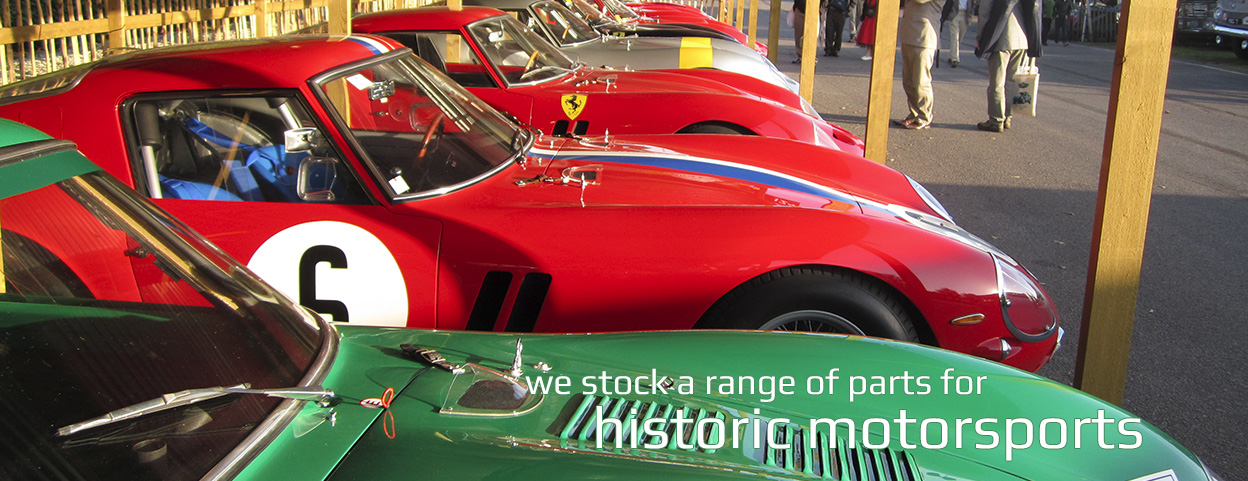 We provide a range of parts for historic motorsports